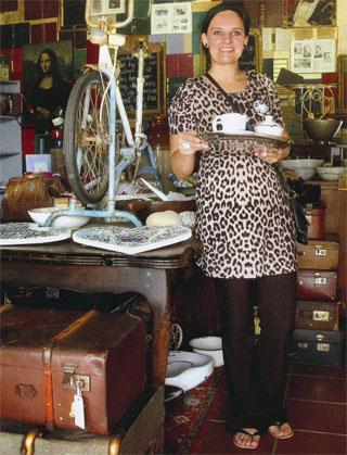 Yolande Grobler, owner of The Railway Trading Co - a quaint boutique shop.