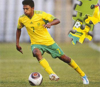 Young star - A shining light in Amaglug-glug's failed CAF U23 Championship campaign was Sameehg Doutie, a poduct of the Ajax Cape Town development system