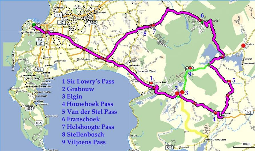 Drive the four passes route to the Elgin Vally small map