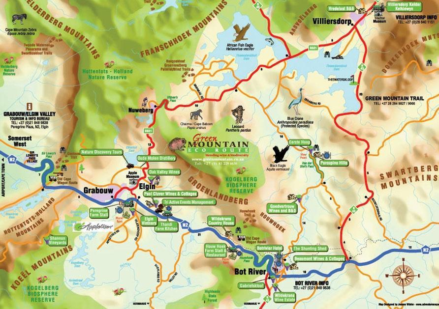 Green Mountain Slack Packing Trail Map