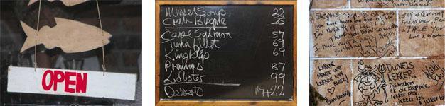 Hook Line and Sinker Restaurant Ambiance, Pringle Bay