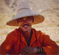 Joseph Obies, a shepherd in the Richtersveld. The Richtersveld is a community-owned reserve