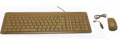 Natural Full Bamboo Keyboard and Mouse Combo