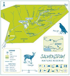 Salmonsdam Hiking Map