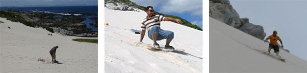 Sandboarding Blesberg Dune, Betty's Bay
