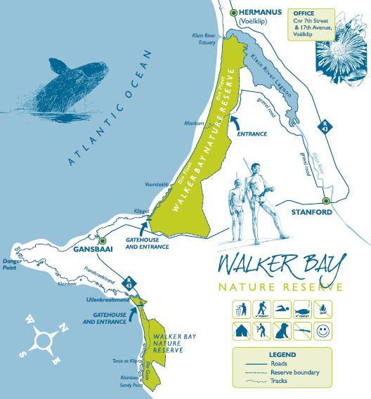 Walker Bay Nature Reserve Map
