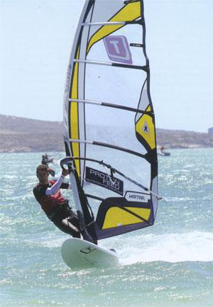 Windsurfers - Next were the kiters, windsurfers and Hobies, who all got off to a flying start behind local jet ski pilot Abbi Lindenberg.