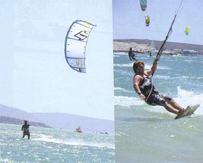 However, it was the top windsurfers that led the field