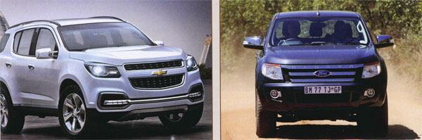 The Chevrolet Trailblazer and The Ford Ranger SUV