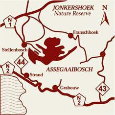 Jonkershoek Nature Reserve Map