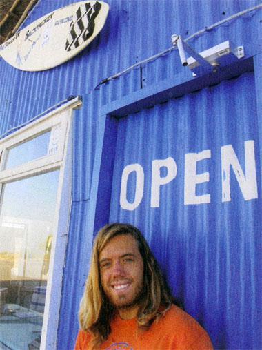 Ricky Thomas runs E-Bay's surfers hangout, Pili Pili Surf Shop