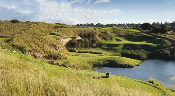 The 166-metre par-three 11th hole perfectly illustrates how the course has been set into the rugged terrain, with every hazard adding to the experience.