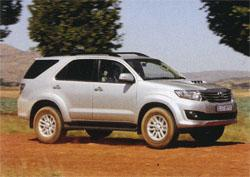 The Fortuner's new shinny grille is another contentious addition to the popular SUV.