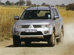 The Pajero Sport has a rounder, less aggressive front end.