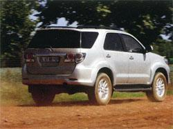 The exterior design of the Fortuner is chunky and aggressive.