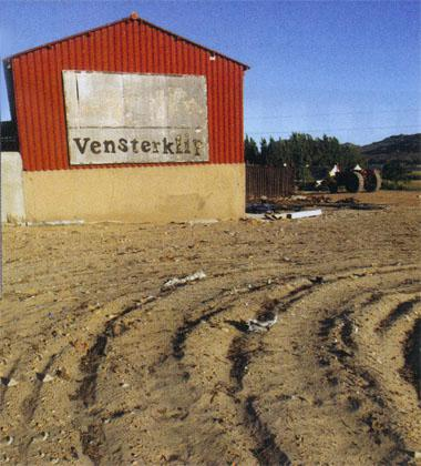 Vensterklip's red barn is as good as a roadsign. Nobody misses the turn-off to the farm