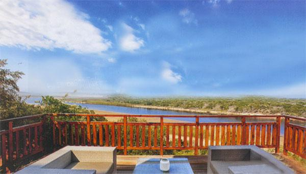 Make yourself comfortable on the deck at Galjoen Lodge