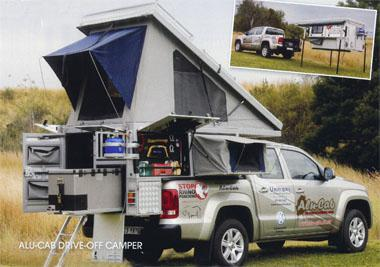 The four-sleeper, drive-off camper from Alu-Cab can be stored easily when it's not needed. Taking it off a bakkie's load area is a simple operation.