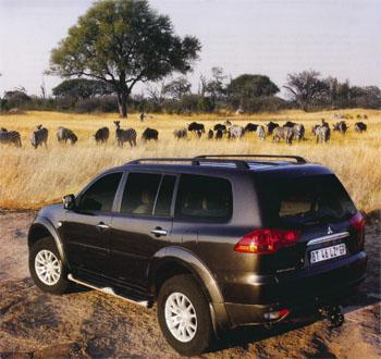 The Pajero in Hwange National Park. The park's wildlife population remains impressive.