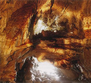 The cave near the Cliff Lodge guest house is typical of the numerous caves found in the limestone cliffs of De Kelders.