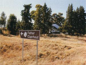 The sign to Claerhout's mission station on the outskirts of Tweedspruit