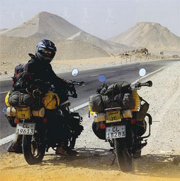 Travelling through the western desert in Egypt