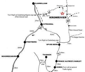 Cederberg Area Map