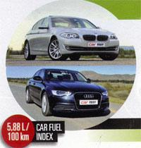 Executive Saloon BMW 520d AT and Audi A6 2,0 TDI Multitronic