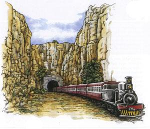 "Kruger's train steamed from Pretoria to the Lowveld to escape the advancing British army. Some reckon the ""Kruger Millions"" were buried when the train stopped in the historic NZASM tunnel."