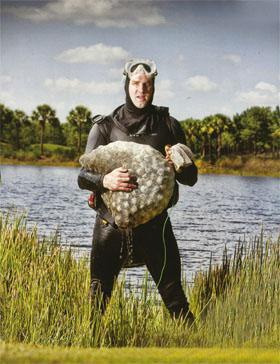 """There are two types of golf ball divers in Florida, ""explains Glenn as he's loading his pick-up truck with scuba gear. ""Those who've had bad experiences and those who are about to."""
