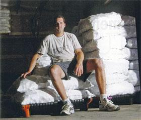 Two million balls a year are shipped internationally by Glenns business Bustinballs