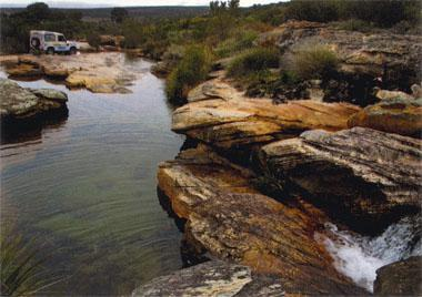 Deliciously cool rock pools can be found if you follow the stream up from the road crossing on the Maskam plateau.