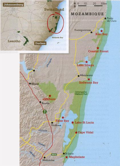 Understanding iSimangaliso: The park comprises 10 sections, which together form one contiguous protected area.