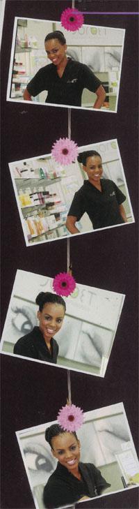 Penelope Tidimalo Sehemo (26) from Vosloorus is the owner of a Sorbet Salon in Rosebank.