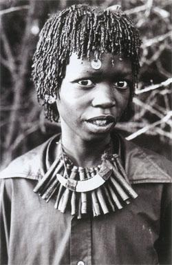 A Tembe trainee sangoma photographed in the 1970s.