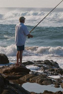 Fishing in Pennington, Umdoni Coast, KwaZulu-Natal