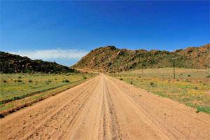 Kamieskroon, Namaqualand, Northern Cape Cycle Trail Roads