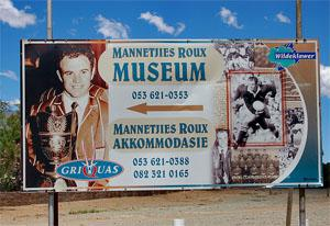 Mannetjies Roux Rugby Museum, Victoria West, Northern Cape