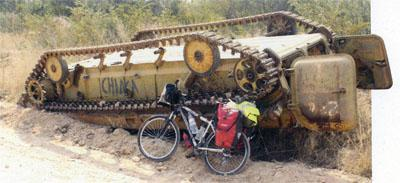 The scars of war are still evident all over Angola from tank- sized potholes in the roads, to up-turned, bombed tanks and troop carriers rusting in the bush.