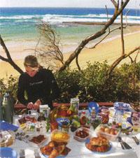 After a morning in the water divers can enjoy a beach side breakfast at Rocktail Beach Camp