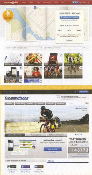 Bikeradar Training and Traing Peaks and Mapmyride