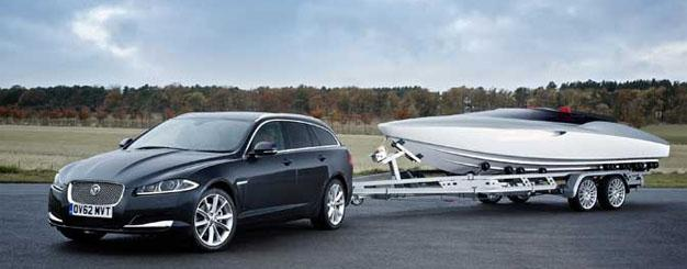 Concept Speedboat by Jaguar with new Jaguar XF Sportbrake