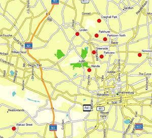 Johannesburg Villages Map