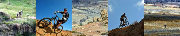 Mountain Biking in the vast expanses and sandstone terrain of the Eastern Free State Highlands, South Africa