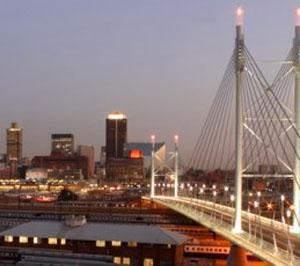 Nelson Mandela Bridge, Gateway to the Inner City of Johannesburg
