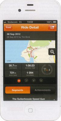 No riding buddies for mid-ride challenges? Through Strava you can compare your times with complete strangers - as well as your previous efforts.