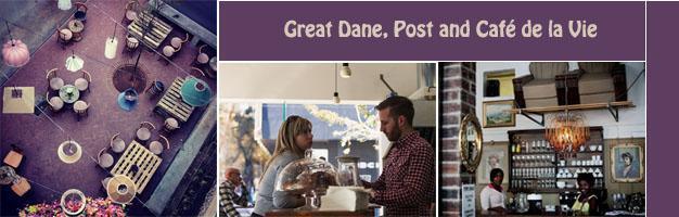 Great Dane, Post and Cafe de la Vie, Braamfontein Restaurants