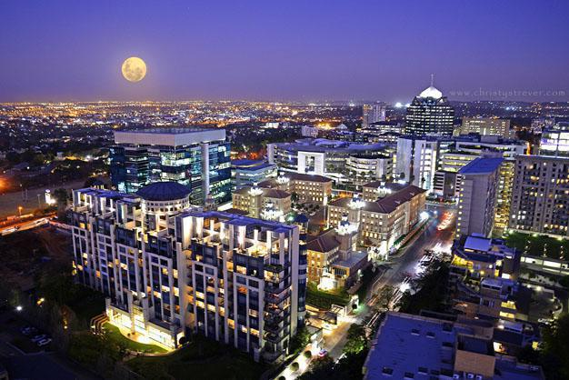 Sandton City Night Skyline