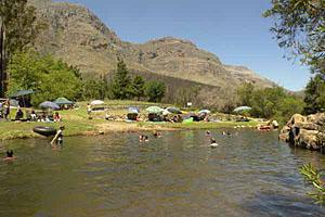 Swimming in the Rondegat River at Algeria, Cederberg Wilderness Area