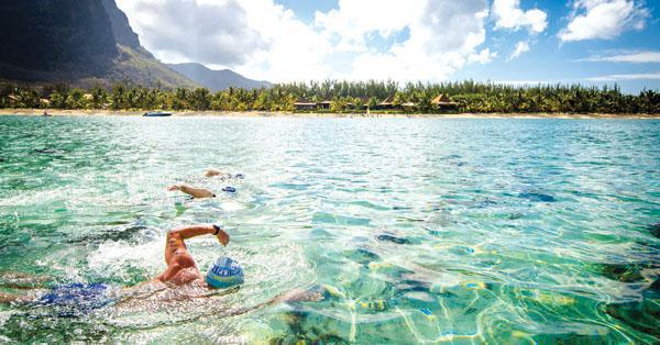 The swim takes place in the exceptionally warm, turquoise waters of the Indian Ocean, and although there may be some current, the area is conveniently sheltered from any waves by the natural coral reef.
